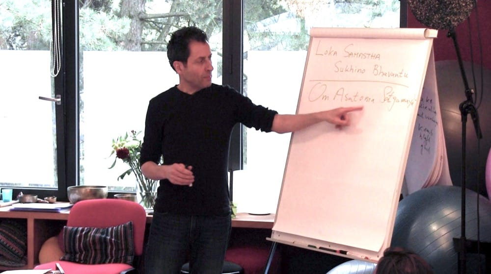 Marc explaining the deeper meaning of mantras